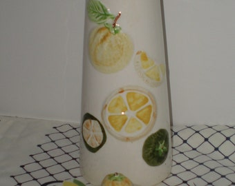 Retro Mid Century Vintage Kitschy Lemon And Lime Ceramic Lidded Pitcher From Usagco Of Japan