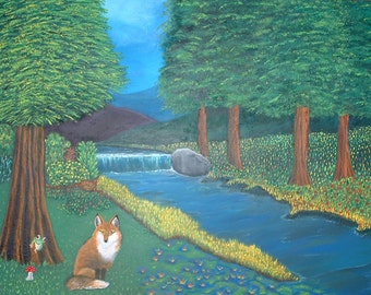 Fox Creek  Original Landscape Painting 18x24