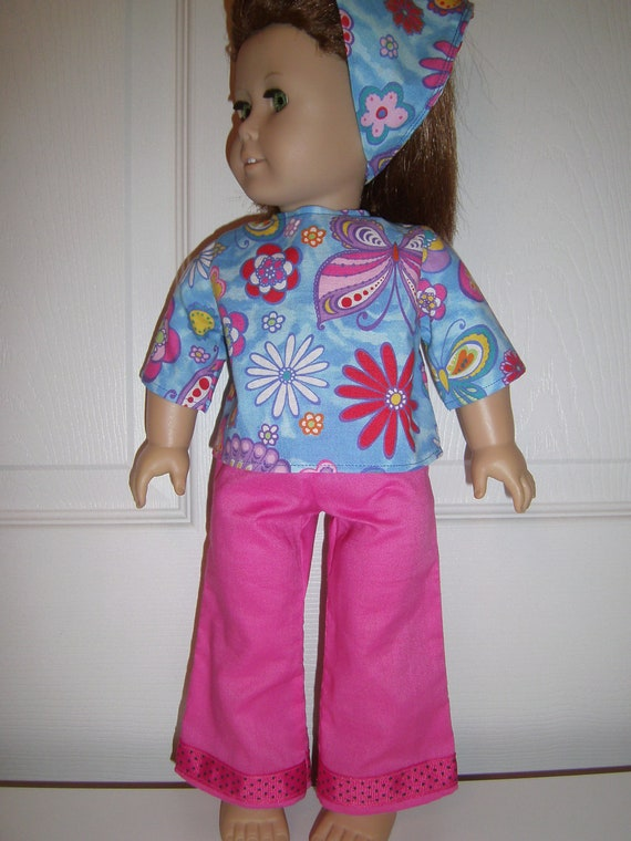 "Hot Pink and Ready To Go for American Girl Doll or 18"" Dolls"