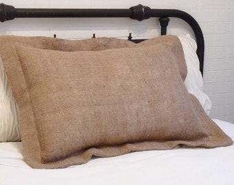 Burlap Pillow Sham - Standard Size