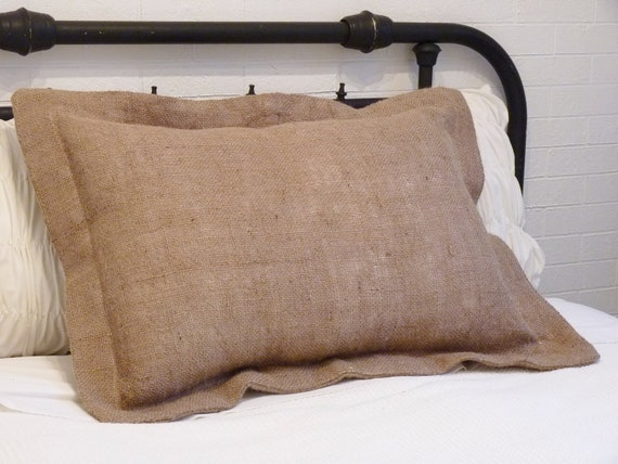 burlap pillow sham standard size. Black Bedroom Furniture Sets. Home Design Ideas