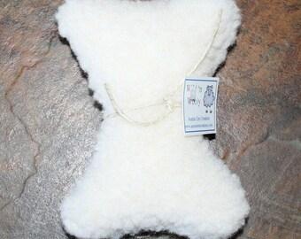 Plush Dog Squeaker Toy, Bone