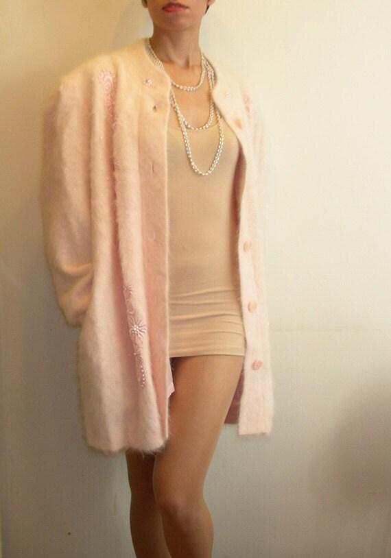 Fuzzy Pink Angora Sweater Glam Plus Size By Juliasugden On