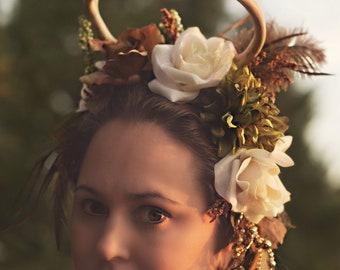 Woodland Fantasy Deer Antler Headpiece / Fairy Wear