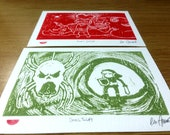 Legend Of Zelda Lino Cut Print, Sweet Justice and skulltula twin pack.