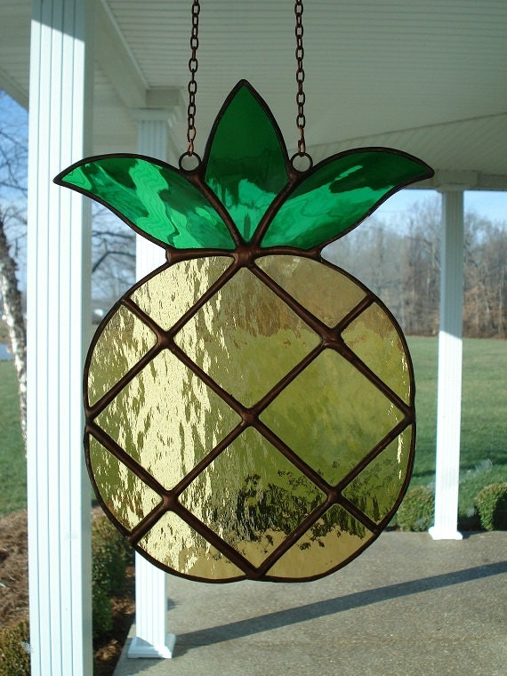 Pineapple Stained Glass Suncatcher