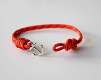Knots N Anchor Bracelet - Orange