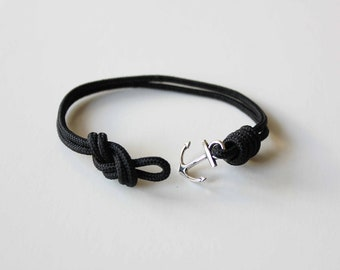 Knots N Anchor Bracelet - Black