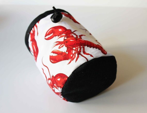Red Pinchy Lobster Chalk Bag - Rock Climbing - Small