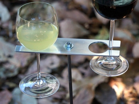 Boho Double Wine Glass Holder/ Garden Wine Holder