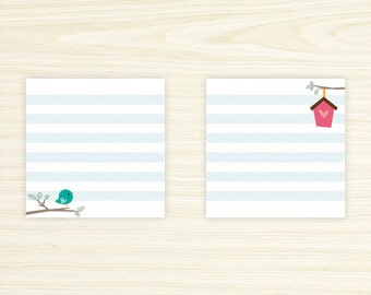 Cute Bird Sticky Notes Set