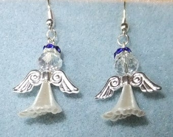 Pearl Angel earrings