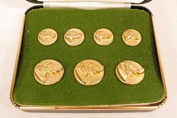 HOLD Gold Vintage Labrador Buttons -Amanda G.