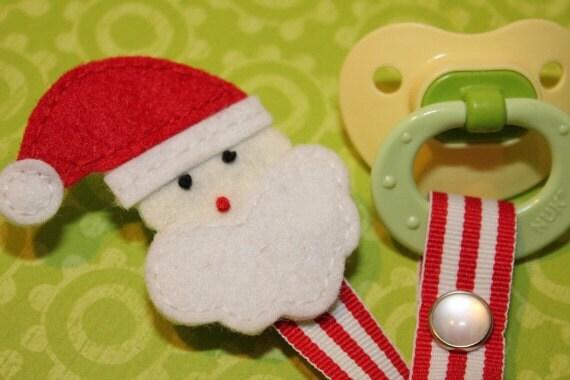 Santa Pacifier Clip