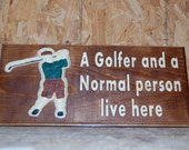 Golfer and Normal Person sign