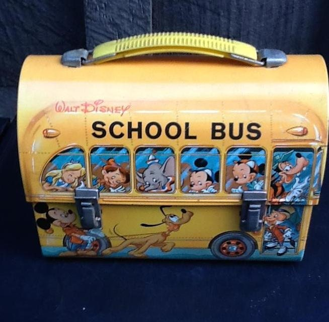 Vintage Lunch Box / Disney / Mickey Mouse / School Bus Lunch