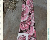 Pink & Grey Flowers with Fabric Rose - Fashion Camera Strap Cover