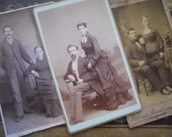 Rare Victorian Couples Cabinet Card Photo Lot