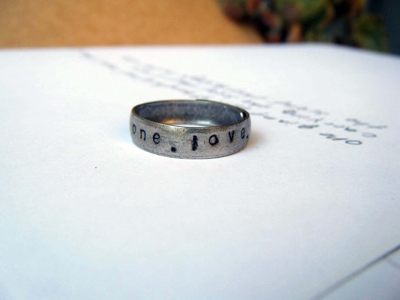ONE LOVE RING, Made to Order, Hippie Rings