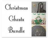 Christmas Ghosts Bundle - Embroidery Pattern PDF - Includes Color and Stitch Guide - Dickens - A Christmas Carol