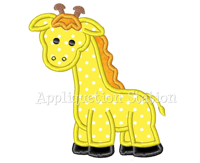 Giraffe Applique Machine Embroidery Design Pattern Baby Animal