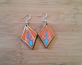 geometric colourful earrings