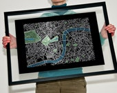 London Street Map Text Only Print