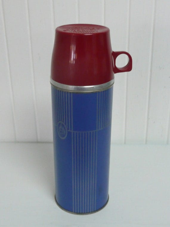 1940s picnic camping thermos keepsit brand lovely blue. Black Bedroom Furniture Sets. Home Design Ideas