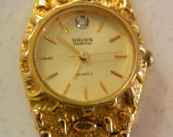Gruen Watch Gold Nugget Jewelry and