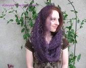 Purple Veil ~ EV2P -- Eternity Veil Headcovering - Infinity Chapel Veil , Many Color Options Available