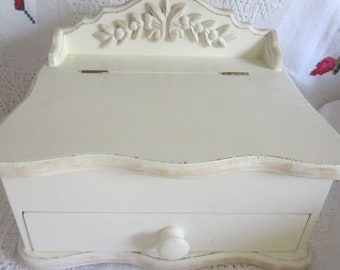Wood Casket  Lid Jewelry Trinket Box,Art Nouveau  By DecoLine Of New York....