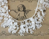White Cotton Lace Trim Embroidered Florals Pattern Bridal Hairflower Lace Wedding Decor Accessories Grace Supplies Jewelry Design