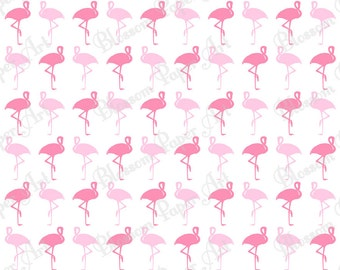 Flamingo Digital Scrapbooking Paper - Pink - Baby - Cardmaking - Printable Paper - Wrapping Paper - Decoupage - 1144