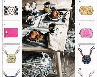 McCall's Home Decorating Dining Essentials, Placemats and Seat Cushions, 2002, McCall's 3629, Uncut
