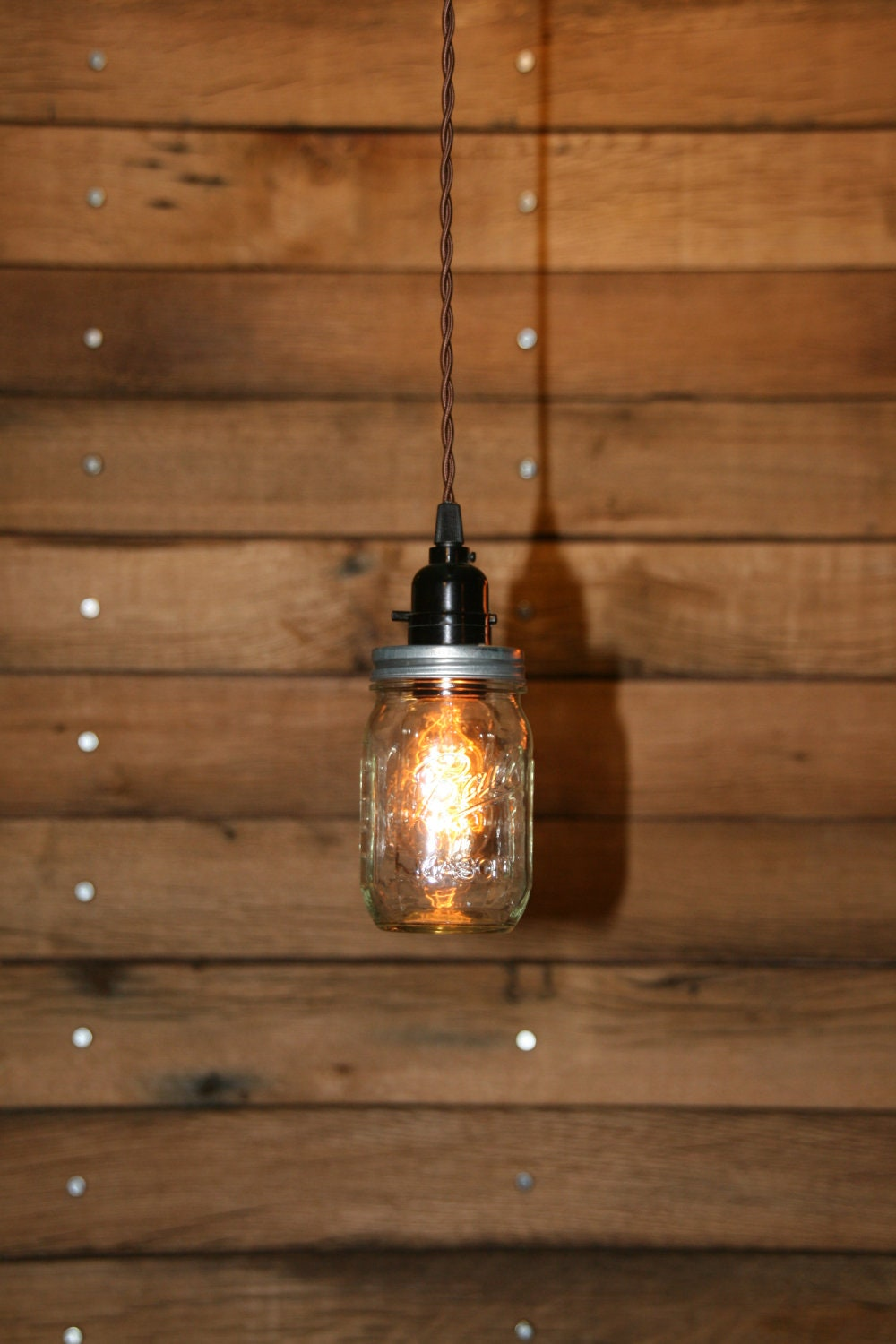 Request a custom order and have something made just for you for Hanging lights made from mason jars