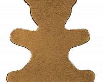 Genuine Leather Teddy Bear Shape 25pk #10-476011