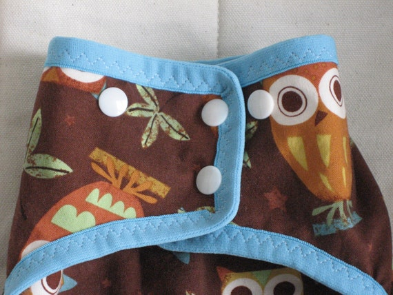 Cloth Diaper Package/Gift Set - Gender Neutral, Owls Medium/One Size