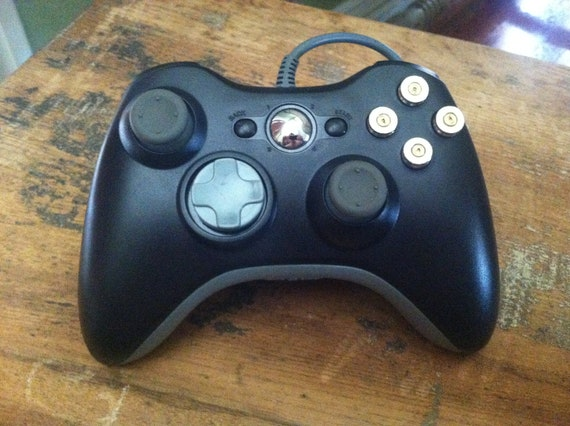 Xbox 9mm bullet button Wired Controller Video Game gun nickel shells