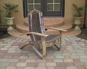 Wine Barrel Adirondack Chair (Medium Size) Woodworking Plans