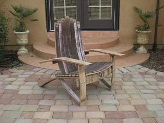 adirondack chair plans wine barrel