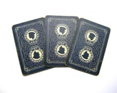 10 Rare black linen playing cards