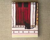 Black cat  -  TINY CANVAS PRINT 4x3 inches