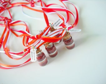 Pirate Powder Necklace, Pirates, Pirate Party Favors, Orange, Red
