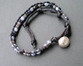 Handmade beaded double wrap bracelet