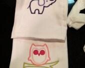 Baby burb cloths and onsies custom order