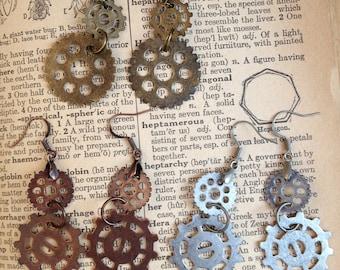 Steampunk Gear Rings