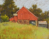 Landscape Painting - Pennsylvania Barn Pastel