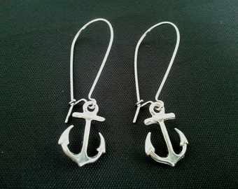 Anchor Kidney Earrings - Drop Earrings, Dangle Earrings