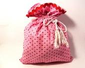 SALE Drawstring bag elegant for travel or organizing at home-Project bag-gift bag