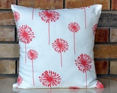 Decorative pillow coral pillow designer pillow cushion cover 18x18 inches throw pillow